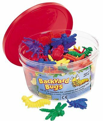 Learning Resources Backyard Bugs Counters Set of 72 – NEW