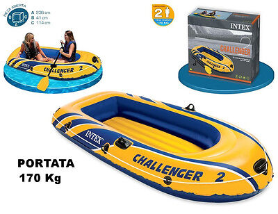 Seatpost Inflatable Rubber dinghy Challenger 2 cm 236X114X41 MAX 170 KG INTEX
