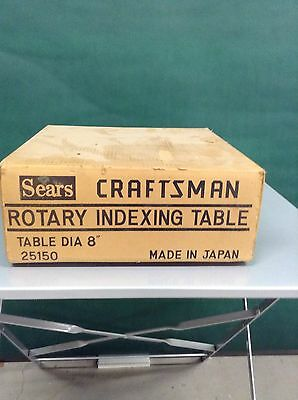 "Sears Craftsman Rotary Indexing Table, 8"" Diameter ~ New In Box"