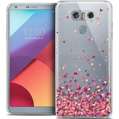 Coque Crystal Gel LG G6 Extra Fine Souple Sweetie Heart Flakes