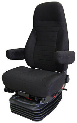 National Seats HP Truck Seat Series Black Fabric Air Suspension Seat