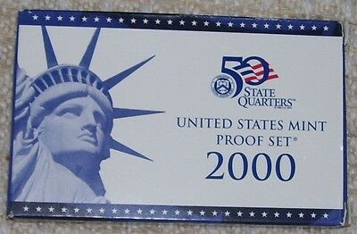 2000-S Us Mint Proof Set - 10 Coin Set - Turn Of The Century Coins