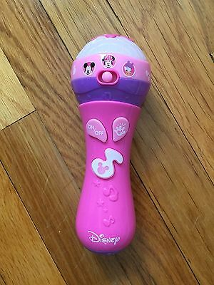 Minnie Mouse Microphone With Lights And Sounds Disney Junior Pink Bowtique