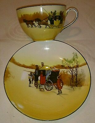 Vintage: Coaching Days cup and saucer Royal Doulton Seriesware  E3804 Rd 328841