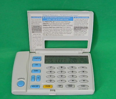 Weight Watchers Points Manager Electronic Weight Loss Calculator Model 1818