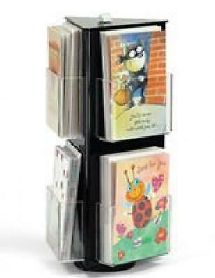 Displays2go Acrylic Greeting Card Display Stand with Clear Pockets for...