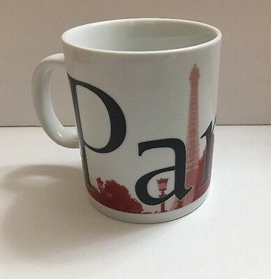 Starbucks City Mug Paris Large Coffee Tea Mug 16 oz Red Collection
