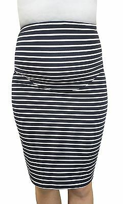 Stripe Stretchy Maternity Pencil Skirt For Pregnancy
