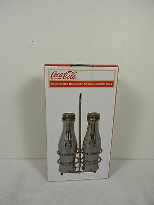 Coca-Cola Silver Salt & Pepper Shakers - BRAND NEW!