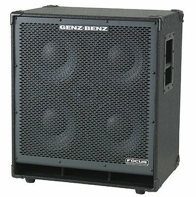 "Genz Benz FCS-410T 600 Watt 4 x 10"" and Tweeter Bass Cabinet 8 Ohm - NEW!"