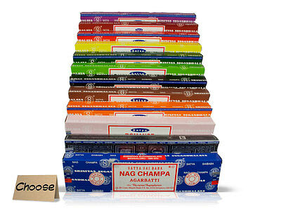 Satya Genuine Nag Champa Incense Joss Sticks (Mixed/Variety Packs see below)