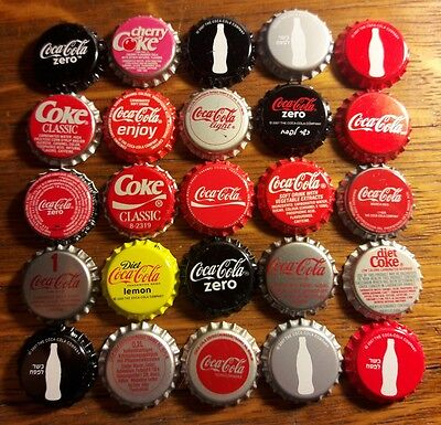 25 COCA COLA foreign and US soda bottle caps unused