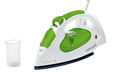 Concept Zn-8012 Dry & Steam Iron Ceramic Soleplate 2200W Verde Bianco Ferro Da