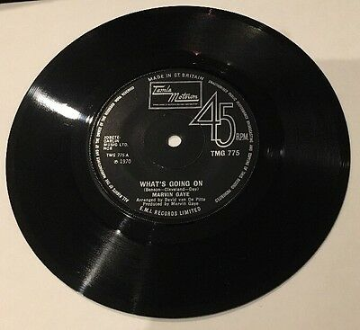 "Marvin Gaye 7"" TMG775 What's Going On /God Is Love Vinyl Record Rare 1970 Motown"