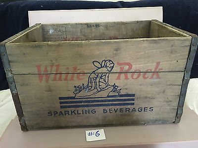 White Rock Metal Banded Wood Crate