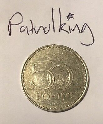 50 Forint Coin Hungarian
