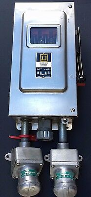 SQUARE D Enclosed Switch H362-DS   Fused 60 AMP with Appleton 30 amp Receptacles