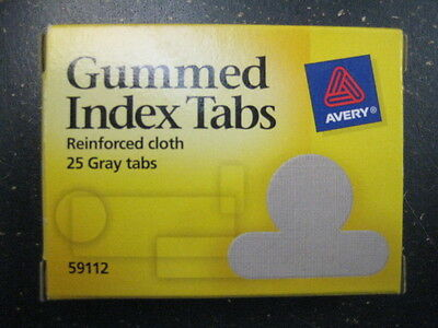 "8 X Avery 59112 Round Gummed Index Tabs 5/8"" - 25 pk = 200 Tabs Total~NEW"