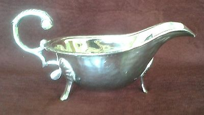 "Vintage Silverplate Gravy Boat 7.5"" Long  x  3.75"" wide x  4.75"" High"