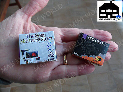 Miniature Box. Sega Master System, Neo Geo CD. Escala 1/12.