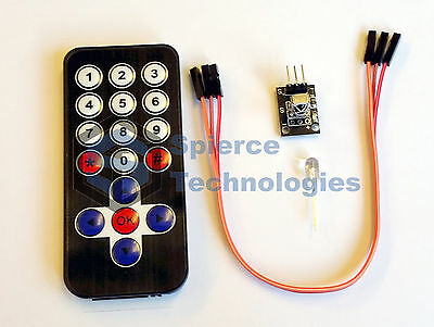 IR Wireless Infrared Remote Control Kit For Arduino, BeagleBone, & Raspberry Pi