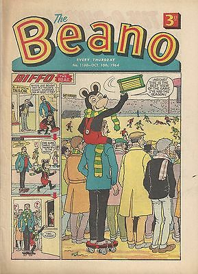 Beano Comic #1160 October 10th 1964 Very Good Condition Dandy 53rd Birthday Gift