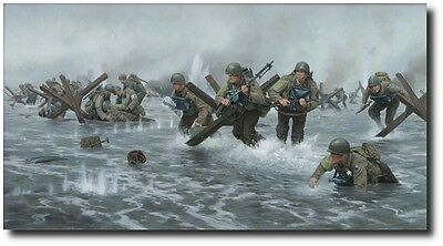 The Stonewall Brigade by Larry Selman - D-Day on Normandie Beach - Military Art