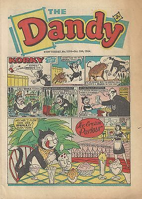 Dandy Comic 1194 October 10th 1964 Very Good Condition Beano 53rd Birthday Gift