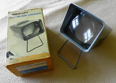 Vintage Airequipt 12X Slide Viewer, for 35mm and Super Slides, grey, works!
