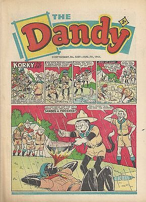 Dandy Comic #1237 August 7th 1965 Very Good Condition Beano 52nd Birthday Gift