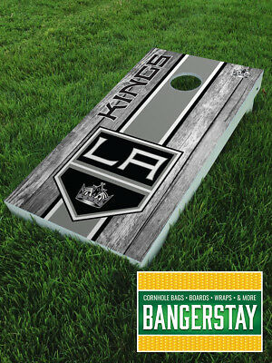 Handcrafted Cornhole Boards with Scorestrip- Los Angeles Kings (LAK3)