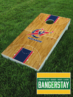 Handcrafted Cornhole Boards with Scorestrip- Washington Wizards (WW1)