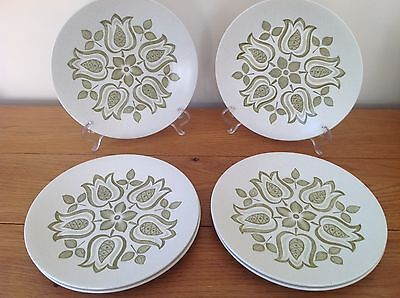 Retro J&G Meakin Tulip Time Dinner Plates