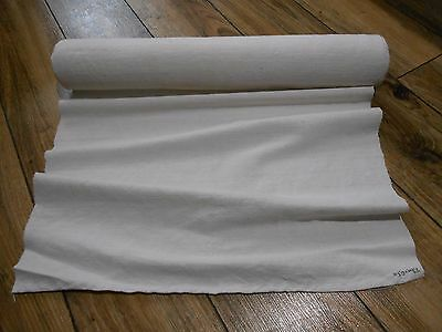 Antique Homespun White CLEAN Linen fabric 7.8m one of the best !