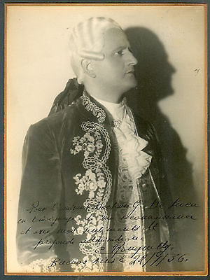 Camille Rouguetty Opera Tenor Real Photo Signed 1936