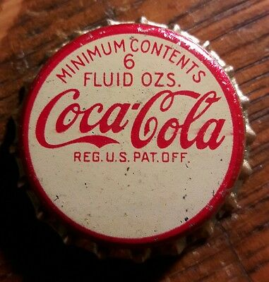COCA COLA 6oz. soda bottle cap cork unused
