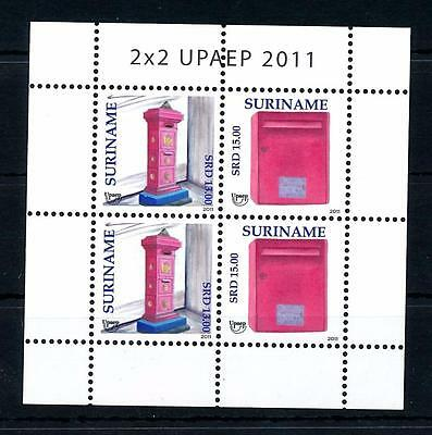 [SUV1830] Surinam Suriname 2011 UPAEP Mail boxes Miniature Sheet with tab MNH