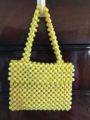 Vintage Yellow Beaded Purse - Made in Italy 'Expressedly' for Alexander's