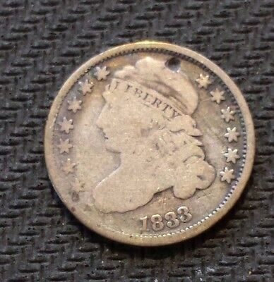 1833 10C Capped Bust Dime