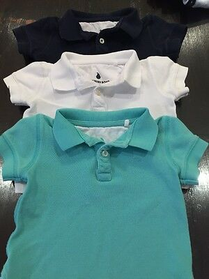 Baby Country Road Polo Mint, White And Navy 3-6 Months Current Season