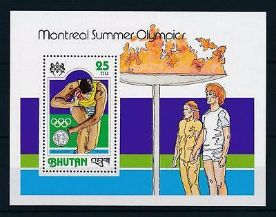 [50213] Bhutan 1978 Olympic games Montreal Athletics Souvenir sheet MNH