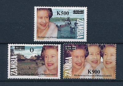 [51289] Zambia 1997 Royalty Queen elizabeth with overprint MNH