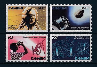 [51205] Zambia 1986 Halley Comet Space MNH