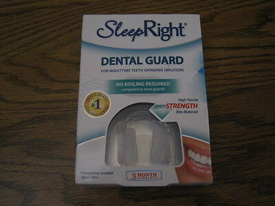 SLEEP RIGHT DENTAL GUARD FOR NIGHTTIME TEETH GRINDING No Boiling  SEALED