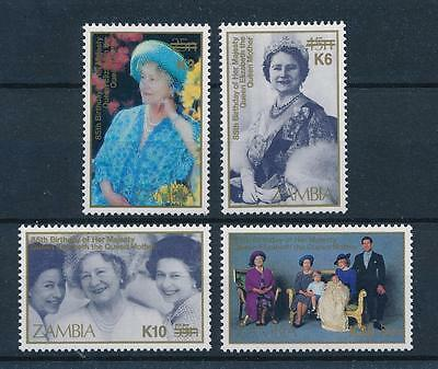 [51212] Zambia 1987 Royalty Queen mother with overprint Rare MNH