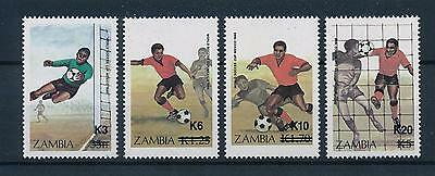 [51214] Zambia 1987 World Cup Soccer Football with overprint Rare MNH