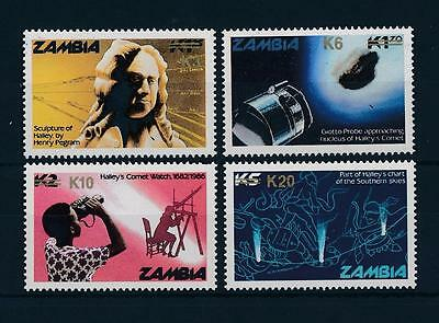 [51215] Zambia 1987 Hally Comet Space with overprint Rare MNH