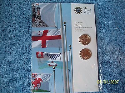 2010 £1 capital cities one pound coin set Brilliant /Uncirculated