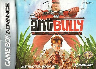 [MANUAL] Nintendo GameBoy Advance The Ant Bully Instruction Booklet