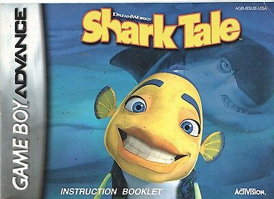 [MANUAL] Nintendo GameBoy Advance Shark Tale Instruction Booklet